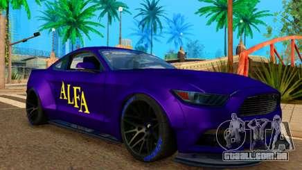 Ford Mustang GT Liberty Walk 2015 Purple para GTA San Andreas