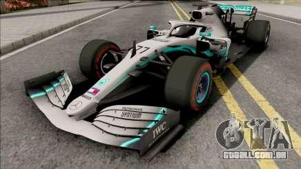 Mercedes-AMG F1 W10 2019 (C4 Tyres Red) para GTA San Andreas
