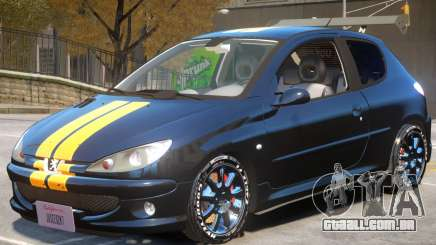 Peugeot 206 Tuning V1 PJ1 para GTA 4