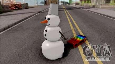 Snowman With Sled para GTA San Andreas