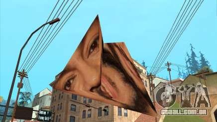 Filipe, na forma de uma pirâmide-origami para GTA San Andreas