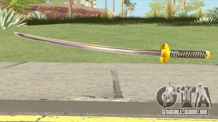 Yellow Katana para GTA San Andreas