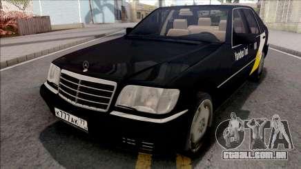 Mercedes-Benz S600L W140 Yandex Taxi Black para GTA San Andreas