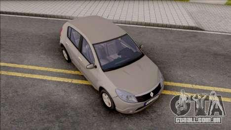Renault Sandero France para GTA San Andreas