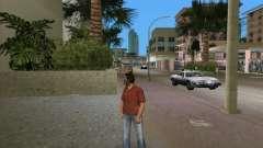 Qualidade de camisa vermelha para GTA Vice City