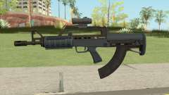 Bullpup Rifle (Scope V2) Old Gen Tint GTA V para GTA San Andreas