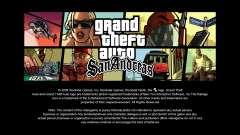 As telas de carregamento em HD para GTA San Andreas
