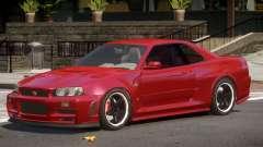 Nissan Skyline GT-R34 ST para GTA 4