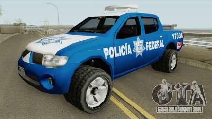 Mitsubishi L200 (De La Policia Federal Mexicana) para GTA San Andreas