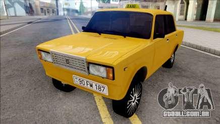 ВАЗ 2107 Deriva de Táxi Baku Cidade para GTA San Andreas