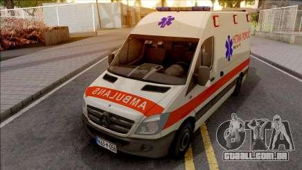 Mercedes-Benz Sprinter Ambulans Hitna Pomoc para GTA San Andreas