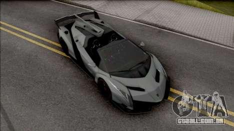 Lamborghini Veneno Roadster 2014 para GTA San Andreas