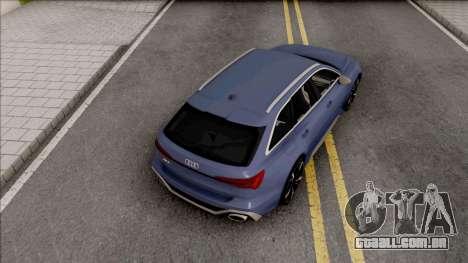 Audi RS6 C8 2020 para GTA San Andreas