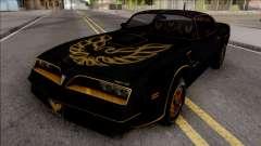 Pontiac Firebird Trans am 77 BlackOne para GTA San Andreas