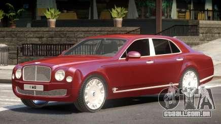 Bentley Mulsanne V1.0 para GTA 4