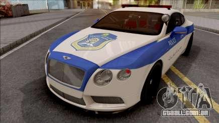 Bentley Continental GT Iranian Police v2 para GTA San Andreas