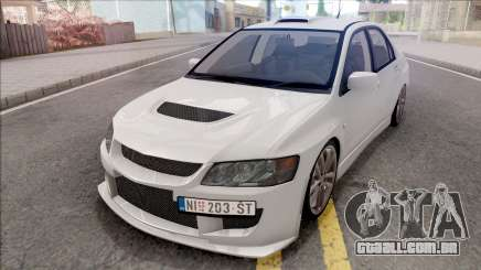 Mitsubishi Lancer Evolution VIII White para GTA San Andreas