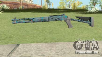 XM1014 Varicamo Blue (CS:GO) para GTA San Andreas