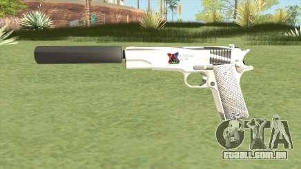 Silenced Pistol (White) para GTA San Andreas
