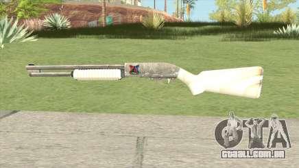 Pump Shotgun (White) para GTA San Andreas