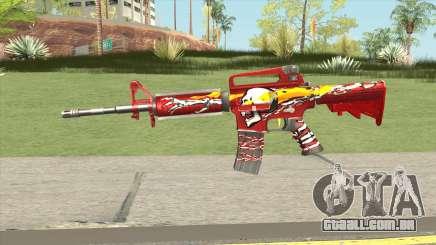M4A1 (Flaming Skull) para GTA San Andreas