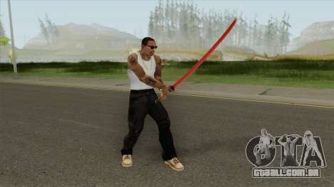Red Katana (HQ) para GTA San Andreas