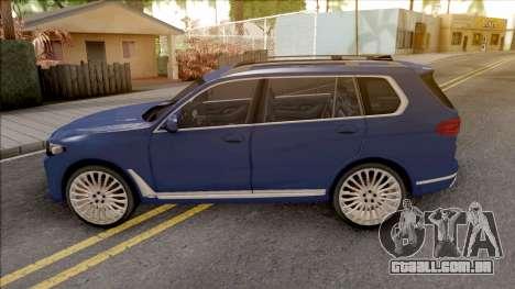 BMW X7 2020 Low Poly para GTA San Andreas