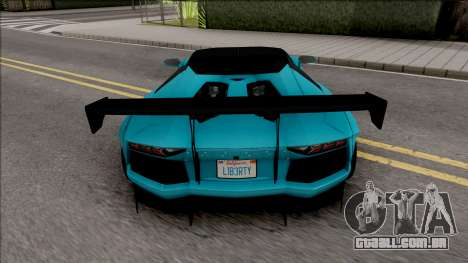 Lamborghini Aventador LP700-4 Roadster LW para GTA San Andreas