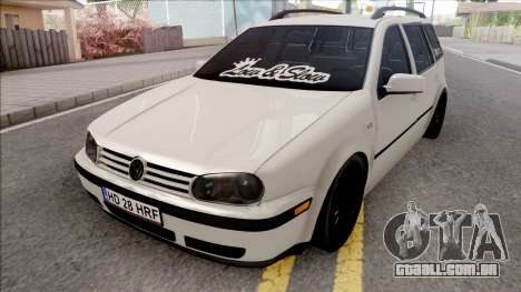 Volkswagen Golf 4 White para GTA San Andreas