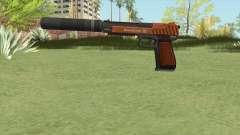 Pistol .50 GTA V (Orange) Suppressor V1 para GTA San Andreas