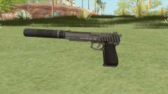 Pistol .50 GTA V (Platinum) Suppressor V1 para GTA San Andreas