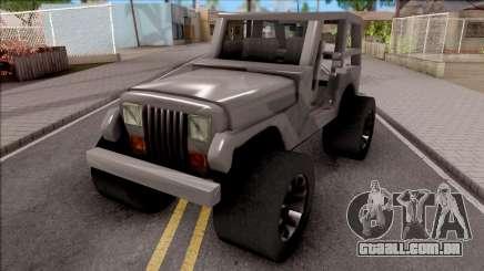 Jeep Wrangler 4x4 XL para GTA San Andreas