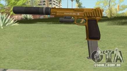 Pistol .50 GTA V (Gold) Full Attachments para GTA San Andreas