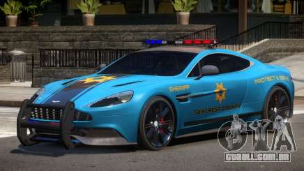 Aston Martin Vanquish Police V1.3 para GTA 4