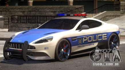 Aston Martin Vanquish Police V1.1 para GTA 4