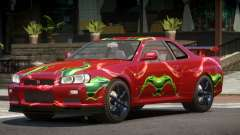 Nissan Skyline R34 GT-R V1.1 PJ4 para GTA 4