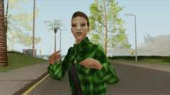 Gang Girl V2 (Grove Street) para GTA San Andreas
