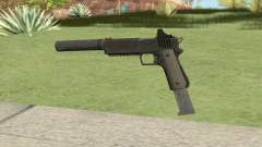 Heavy Pistol GTA V (NG Black) Suppressor V2 para GTA San Andreas
