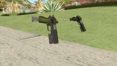 Heavy Pistol GTA V (Green) Flashlight V2 para GTA San Andreas