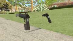 Heavy Pistol GTA V (OG Black) Flashlight V2 para GTA San Andreas