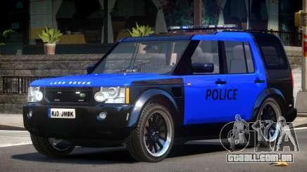 Land Rover Discovery Police V1.0 para GTA 4