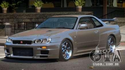 Nissan Skyline R34 LT PJ1 para GTA 4