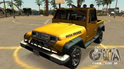 Canis Mesa Grande, Com Emblemas E Extras para GTA San Andreas