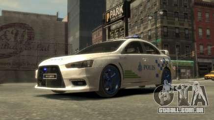 Mitsubishi Evo X Ringgit Carro De Polícia para GTA 4