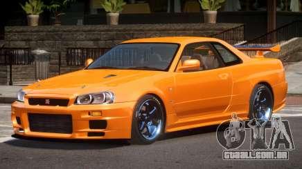 Nissan Skyline R34 LT para GTA 4
