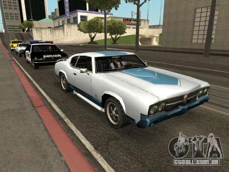 Declasse Sabre GT-Turbo (VehFuncs-Emblemas-Extra para GTA San Andreas