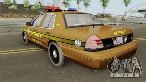 Ford Crown Victoria 2011 (Bone County Sheriff) para GTA San Andreas