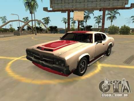 Declasse Sabre Turbo (Crachás E Extras) para GTA San Andreas