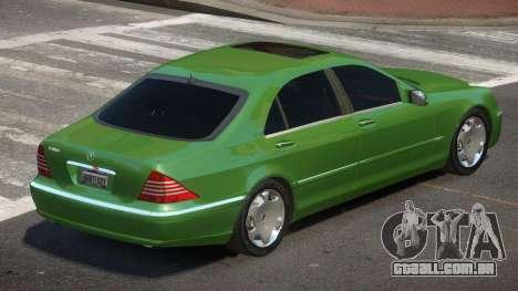 Mercedes Benz S600 V1.2 para GTA 4