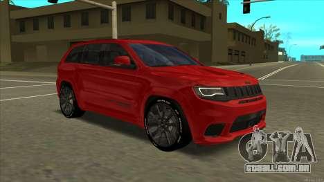 Jeep Grand Cherokee Trackhawk 2018 para GTA San Andreas